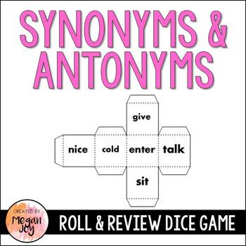 Synonyms & Antonyms Dice Game