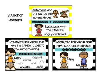 Synonyms & Antonyms GALORE!! 6 Sets, Mix & Match, QR Codes, Mastery Checks