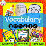 Synonyms Antonyms and Homonyms Speech and Language Therapy Bundle