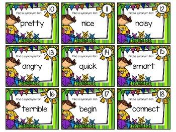 Synonyms, Antonyms & Homonyms Task Cards