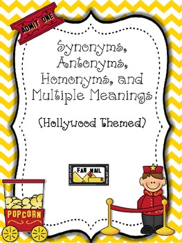 Synonyms, Antonyms, Homonyms, and Multiple Meanings
