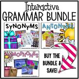 Synonyms, Antonyms, & Homophones Bundle {Interactive}