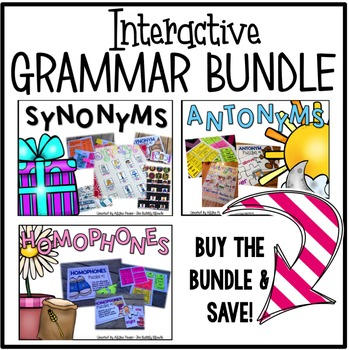 Synonyms, Antonyms, & Homophones Bundle {Interactive}
