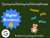 Synonyms, Antonyms, & Homophones - Digital Breakout! (Escape Room, Test Prep)