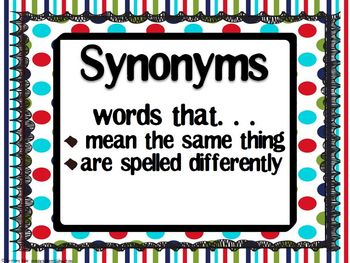 Synonyms, Antonyms, & Homophones Galore