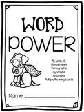 Synonyms, Antonyms, Homophones, Homographs, and Multiple Meaning Words BOOKLET!