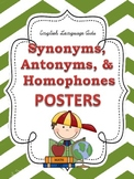 Synonyms, Antonyms, & Homophones POSTERS: Chevron Theme