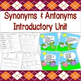 Synonyms & Antonyms Introductory Unit (Presentations, Lesson Plans & Worksheets)