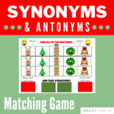 Synonyms & Antonyms Matching Game - Christmas Theme Boom S