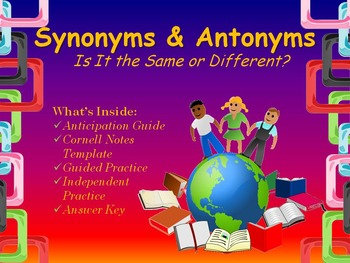 Synonyms & Antonyms Mini Lesson