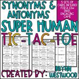 Synonyms & Antonyms SUPER Human Tic-Tac-Toe (5 sets of car