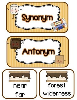 Synonyms & Antonyms: A S'mores Sensation