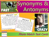 Synonyms & Antonyms Task Cards {with PHOTOS} Differentiated