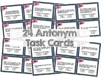 Synonyms & Antonyms Task Cards (2 Sets)