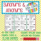 Synonyms & Antonyms Task Cards