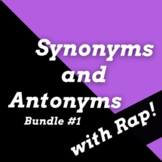 Synonyms and Antonyms Worksheets with Passages Using Rap S