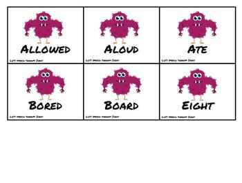 Synonyms, Antonyms and Homonyms Monsters