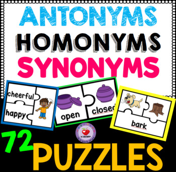 Synonyms, Antonyms and Homonyms Puzzles