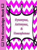 Synonyms, Antonyms, and Homophones