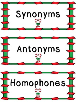 Synonyms, Antonyms, and Homophones Sort