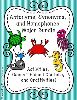 Synonyms, Antonyms, and Homophones Units. Activities, Craf