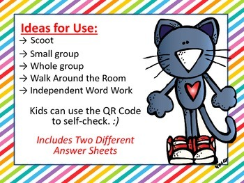 Synonyms, Antonyms, or Neither with QR Codes