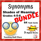 Synonyms BUNDLE Shades of Meaning $$$ 3 Decks ... Plus Boom Learning™, Gr 4-5-6