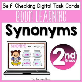 Synonym Boom Cards Distance Learning