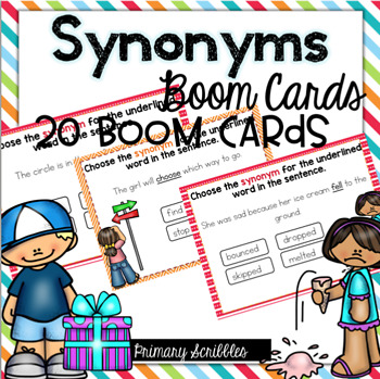 Synonyms Boom Task Cards