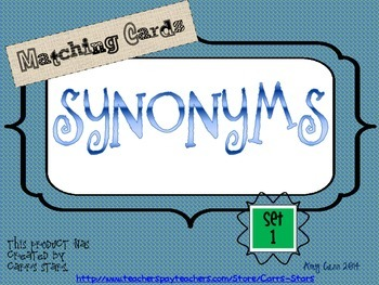 Synonyms Cards Set 1