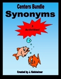 Synonyms - Center Activities: Matching, Memory, Go Fish