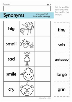 preschool synonyms synonyms center and worksheets by lavinia pop teachers 527
