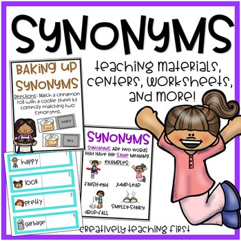 Synonym Centers and No Prep Worksheets