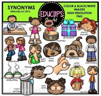 Synonyms Clip Art Bundle {Educlips Clipart}
