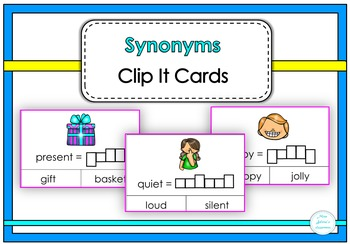 Synonyms Clip It Cards