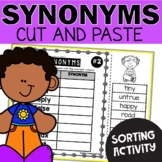 Synonyms Worksheets Cut and Paste