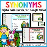 Synonyms Digital Task Cards for Google Slides Distance Lea