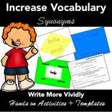 Synonyms- EASY PREP, Matching Activities, Student Response