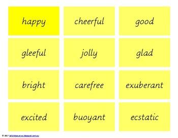 Synonyms - Emotions Edition
