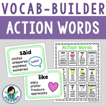 Vocabulary Builder - Action Words