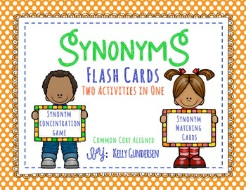 Synonyms Flash Cards and Concentration Game