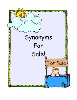 Synonyms For Sale - Literacy Center