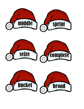 Synonyms - Foxes and Christmas Hats