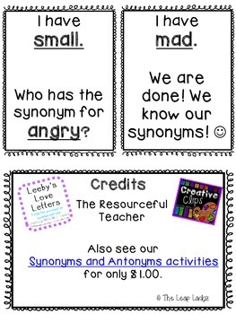 Synonyms Game