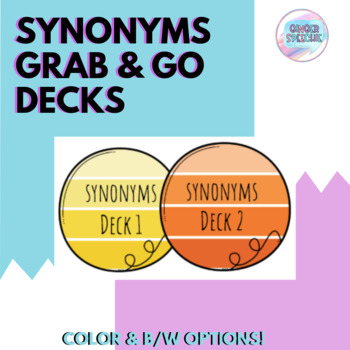 Synonyms Grab and Go Decks