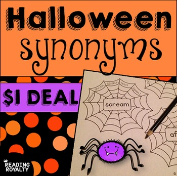 Synonyms - Halloween Themed Literacy Center