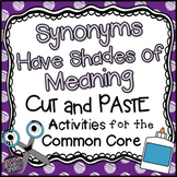Shades of Meaning Worksheets | Synonyms Worksheets