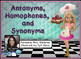 Synonyms , Homophones, and Antonyms Promethean ActivInspire Flipchart Lesson