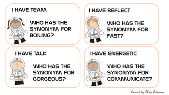 Synonym Game - I Have Who Has