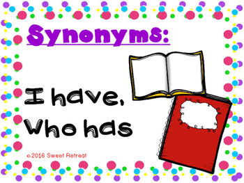Synonyms I Have Who Has